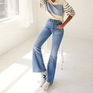 Lee jeans high rise bootcut/flare button fly